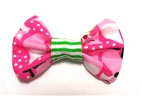 Winter Fox - Pink Fox Hair Bow