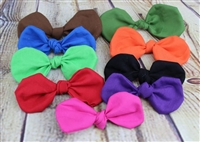 knotted hair bows