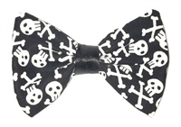 tiny skulls hair bows for halloween