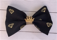 gold diamond hair bow