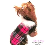 Pink Plaid Fleece Coat