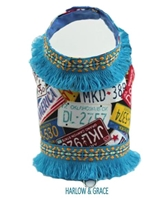 fringed dog harness vest