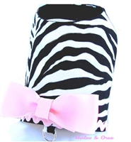 Zebra Vest - Light Pink
