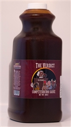 "The Verdict ""Competition BBQ Sauce"", 1/2 Gallon"