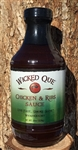 Wicked Que Chicken & Ribs BBQ Sauce, 19oz