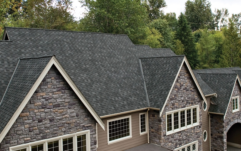 Cambridge Charcoal Gray Roofing By Iko