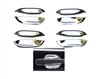 S-CLASS SEDAN/COUPE CHROME DOOR SHELL SET 92-99 W140 SEL/S420/S500/S600