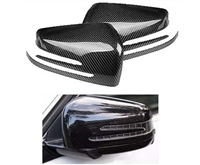 CARBON FIBER MIRROR COVERS PAIR (STICK ON STYLE) 3M TAPE ON BACK INCLUDED