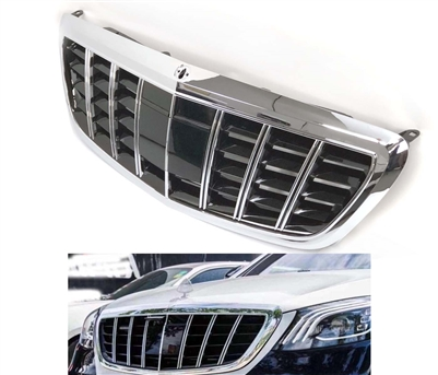 S-CLASS GT STYLE S65/S63 GRILLE CHROME-BLACK GRILLE W222 2014-2019 S550 S600 S500 S400 S350