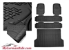 G-WAGON ALL WEATHER HEAVY DUTY RUBBER FLOOR MATS BLACK 3 ROW & TRUNK LINER 00-16 W463 G500/G55/G550/G63