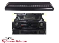 G-WAGON BRABUS STYLE G63/G65 FRONT BUMPER UPPER TRIM SCOOP 00-18 W463 FITS ALL MODELS WITH G63 BUMPER G500/G550/G55/G65/G65
