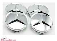 75 Mm Mercedes Benz Wheel Center Cap Set Of 4 All Chrome