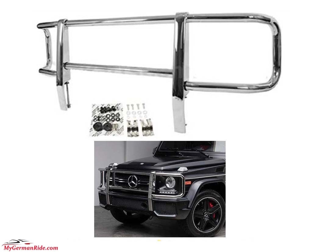 G wagon front chrome grille guard 90 12 w463 g500 g55 g550 g63 for Mercedes benz g500 parts accessories