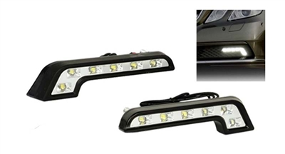 BENZ STYLE HYPER L SHAPE 6 LED BUMPER DAYLIGHTS PAIR