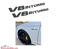 V8biturbo Black Emblem Logo Pair