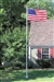 In-Ground Aluminum Flagpole Set with U.S. Flag