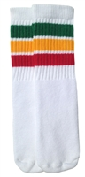 Kids rasta socks with Green-Gold-Red stripes