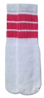 Kids socks with Baby Pink stripes
