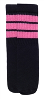 Kids socks with Bubblegum Pink stripes