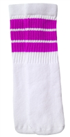 Kids socks with Hot Pink stripes