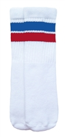 Kids socks with Royal Blue-Red stripes