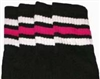 Kids socks with White-Hot Pink stripes