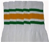 Kids socks with Green-Gold stripes