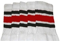 Kids socks with Black-Red stripes