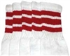 Mid calf socks with Red stripes