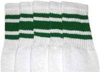 Mid calf socks with Green stripes