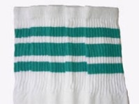 Mid calf socks with Teal stripes