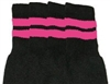 Mid calf socks with BubbleGum Pink stripes
