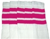 Mid calf socks with Hot Pink stripes