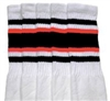 Mid calf sock with Black-Orange stripes