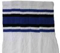 Knee high socks with Royal Blue-Black stripes