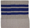 Knee high Grey socks with Royal Blue stripes
