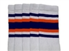 Knee high socks with Navy Blue-Orange stripes