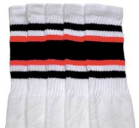 Knee high sock with Black-Orange