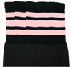Knee high socks with Baby Pink stripes