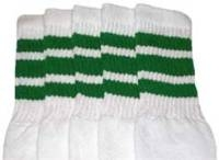 Knee high socks with Green stripes