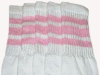 Over the knee socks with Baby Pink stripes
