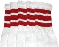 Over the knee socks with Red stripes
