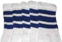 Over the knee socks with Royal Blue stripes