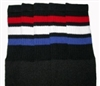 Over the knee socks with Red-White-Royal Blue stripes