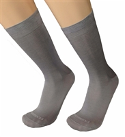 Mens Cenere Grey Italian Dress socks