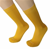 Mens Ocra Gold Italian Dress socks