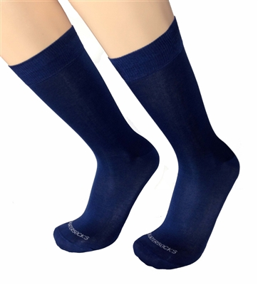 Mens Abisso Navy Blue Italian Dress socks