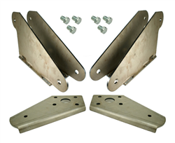 55-57 Chevy Bolt-On Rear Bracket Kit, sold as pair!