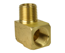 "3/8"" Street Elbow with Male 1/4"" Male NPT and 1/4 Female NPT Threads"