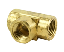 "3/8"" Female Pipe Tee, all end Female NPT Threads"